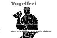 hap grieshaber: vogelfrei / invitation card and exhibition views / aep, hamburg