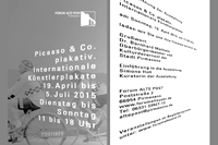 picasso & co. plakativ. / invitation card