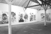 kornrad, ebs, petra, detlef /diptychs / each 280x210cm / digital print, acrylic / 2014 / exhibition view OSTRALE´014, dresden