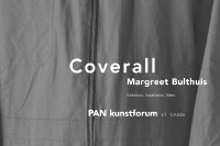 margreet bulthuis: coverall / exhibition poster / pan kunstforum / 42x59,4cm / 2006