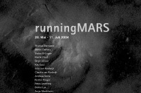 runningmars / exhibition poster / pan kunstforum / 59,4x84cm / 2004
