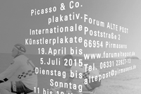 picasso & co. plakativ. / exhibition poster / forum alte post, pirmasens / 59,4x84cm / 2009