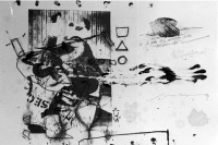 people / 24 works on paper / mixed media / each 70x100cm / mintrops burghotel, essen / 1990